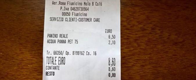 Fiumicino: in aeroporto un panino vale quanto un'ora di lavoro di un impiegato