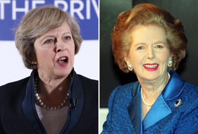 Theresa May  e Margaret Thatcher