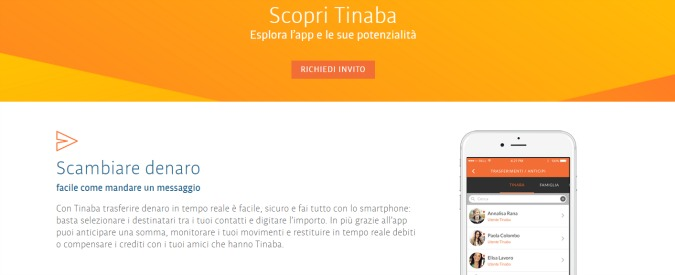 Tinaba, addio ai contanti con la app per trasferire denaro senza commissioni