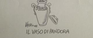 """Attentati Monaco, la vignetta di Vauro: """"Il vaso di Pandora"""""""