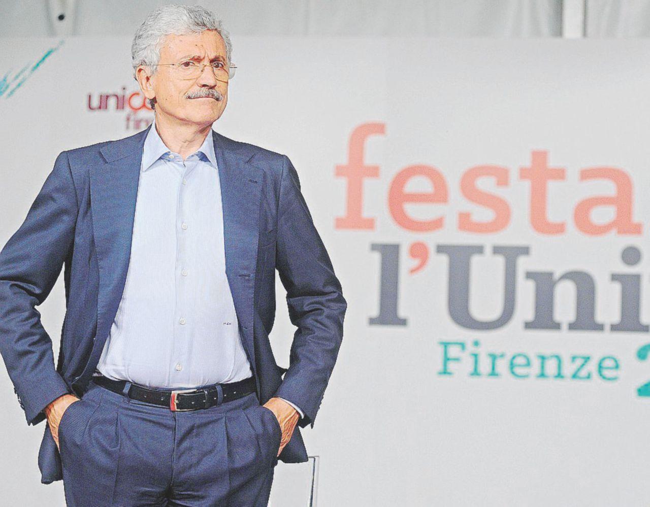 """Ora la Festa dell'Unità """"imbavaglia"""" D'Alema"""
