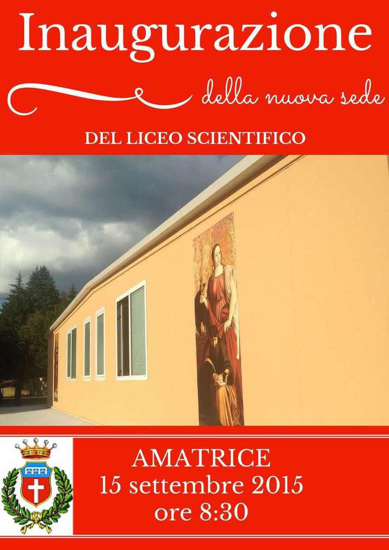 Un'immagine della nuova sede, chiaramente anti-sismica, del liceo scientifico di Amatrice.