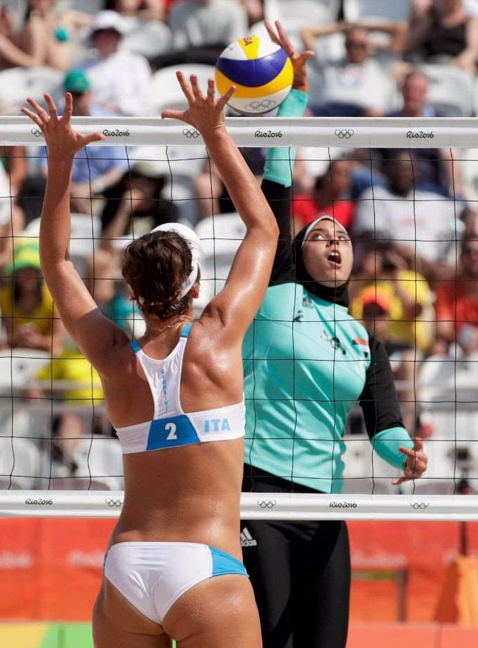 Женский пляжный волейбол египтянки фото в рио