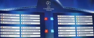 Champions League 2016, il sorteggio sorride alle italiane: nessuna big nel girone di Juventus e Napoli – VIDEO