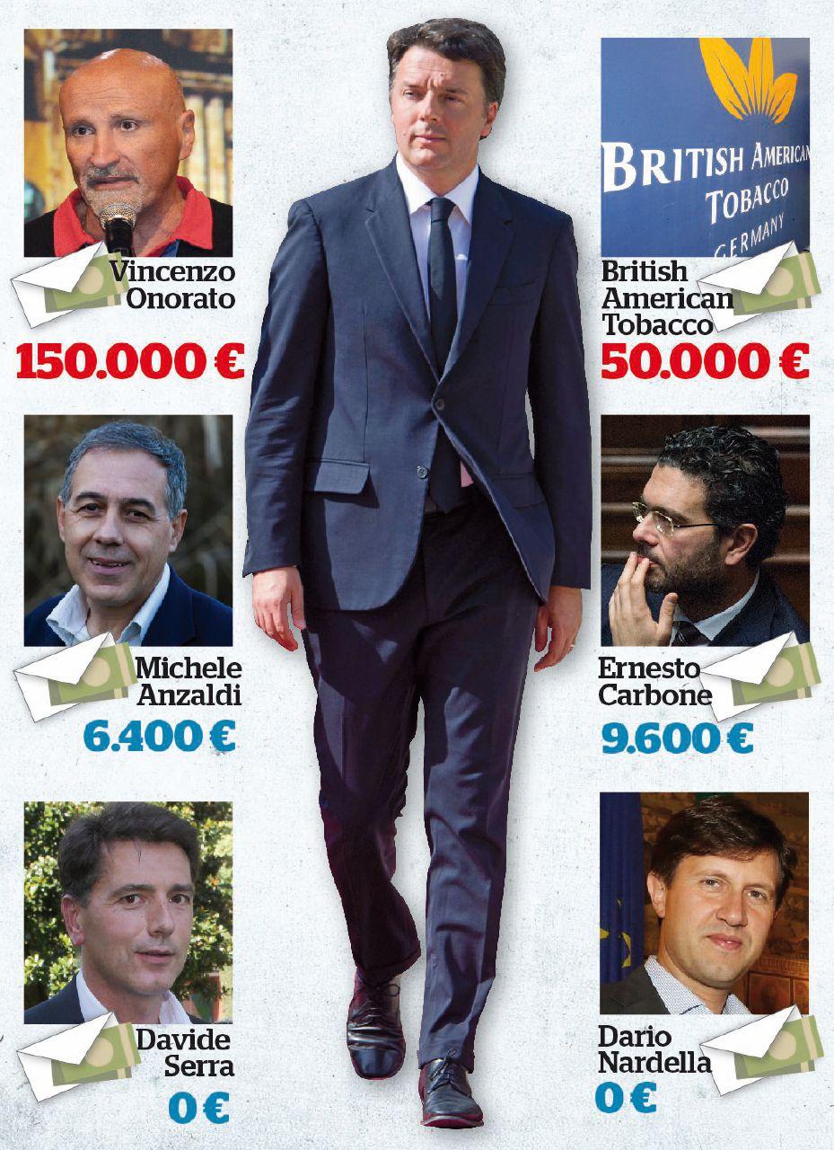 Sul Fatto del 7 agosto: fuga da Renzi. Ecco chi sborsa e chi no alla cassaforte Open