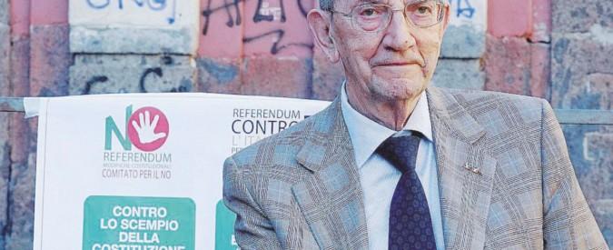 """Referendum, Smuraglia: """"La stampa voleva dividere l'Anpi: ma siamo uniti sul No"""""""