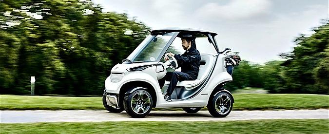 Mercedes Golf Car, il buggy elettrico di lusso con frigo e touchpad – FOTO
