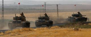 """Siria, 350 soldati turchi oltre il confine. I curdi: """"Ankara vuole colpire noi, non l'Isis"""" – FOTOGALLERY"""