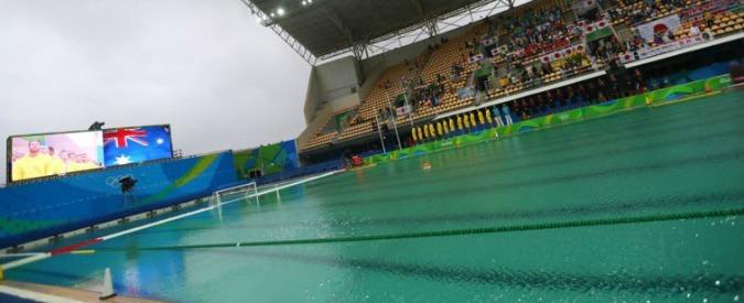 Olimpiadi Rio 2016, anche la piscina della pallanuoto si tinge di verde