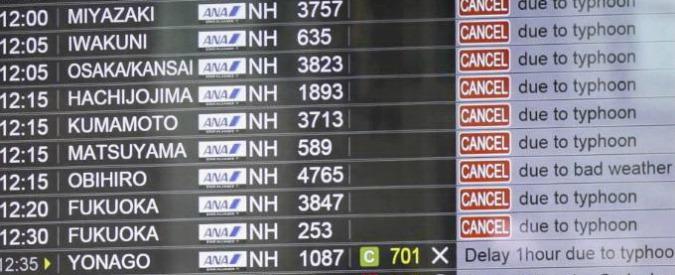 Tokyo, il tifone Mindulle causa la morte di due persone. Stazioni e aeroporti in tilt