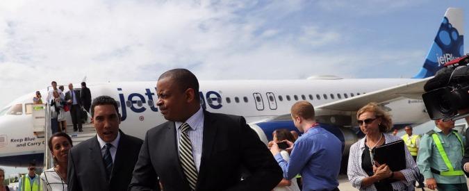 """Cuba, atterrato """"l'aereo del disgelo"""", il primo volo commerciale dagli Stati Uniti dopo oltre mezzo secolo"""