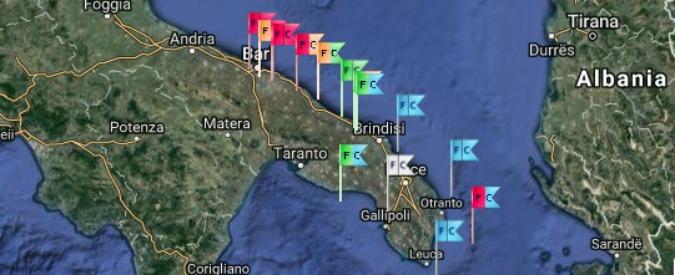 Puglia, torna l'alga tossica sui litorali di Adriatico e Ionio. E per la prima volta bollino rosso anche a Otranto