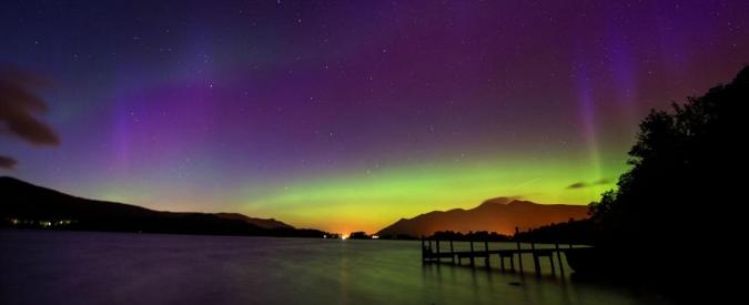 Eruzione solare, tempesta magnetica e spettacolari aurore nei cieli polari