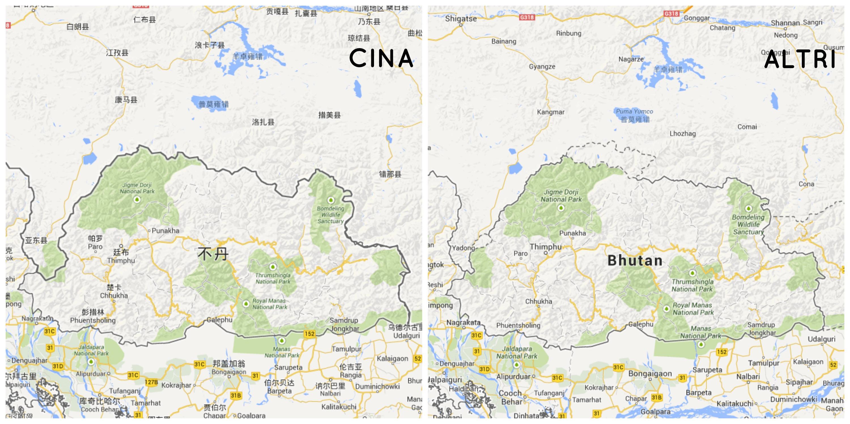 bhutan puzzle con nomi