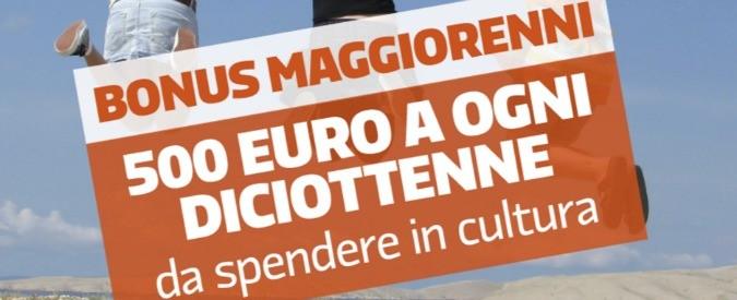 Bonus 500 euro, la cultura non si compra con le mancette