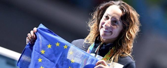 """Rio 2016, Elisa Di Francisca festeggia con la bandiera Ue: """"Per Parigi e Bruxelles"""""""