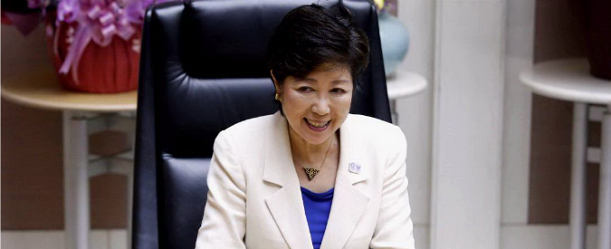 Tokyo, Koike prima donna governatore. Vuole ridurre il suo stipendio
