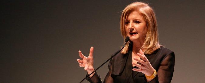 Arianna Huffington lascia la direzione dell'Huffington Post. Guiderà una start up che si occupa di salute e benessere