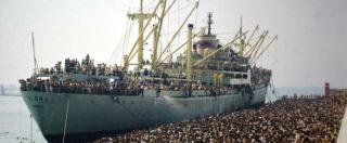"""Migranti, 25 anni fa a Bari lo sbarco di 20mila albanesi. Così arrivarono con """"la nave dolce"""""""