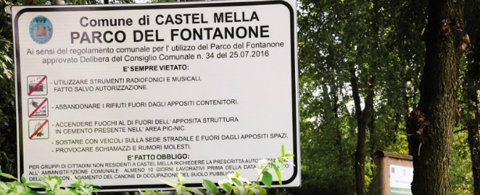 """Brescia, al parco di Castelmella la Lega vieta l'ingresso a gruppi di non residenti: """"Extracomunitari diventati padroni"""""""