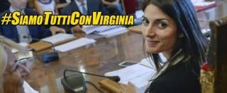 """Virginia Raggi, direttorio e Grillo per la sindaca di Roma: """"Siamo tutti con te"""""""