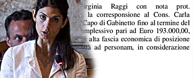 """Roma, il capo di gabinetto di Virginia Raggi guadagnerà 193 mila euro all'anno Polemiche Pd: """"Grazie per lo spreco"""""""