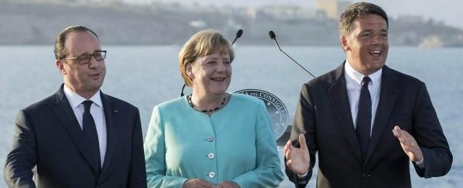 Renzi, Merkel e Hollande a Ventotene: tre disperati che cercano consensi a ogni costo