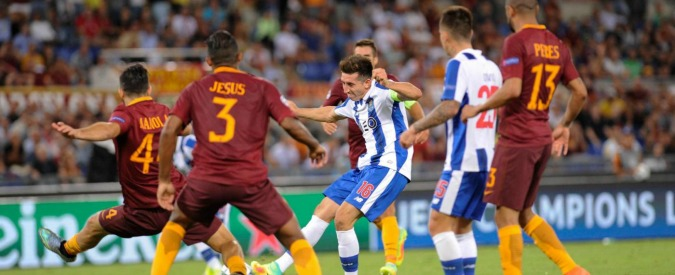 Champions League, Roma – Porto: 0 a 3. Disastro preliminari, giallorossi fuori: perdono la testa e 30 milioni