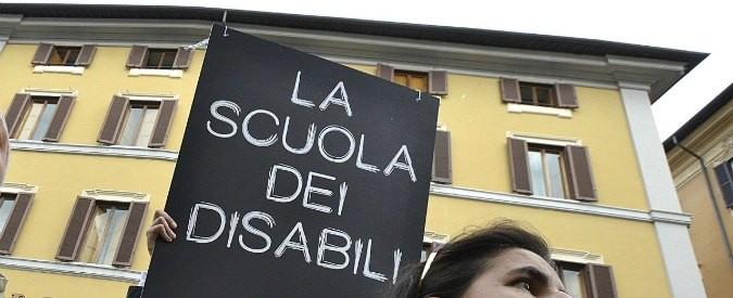 Buona scuola, l'inclusione dei disabili non c'è. Il governo è preoccupato solo di non spendere