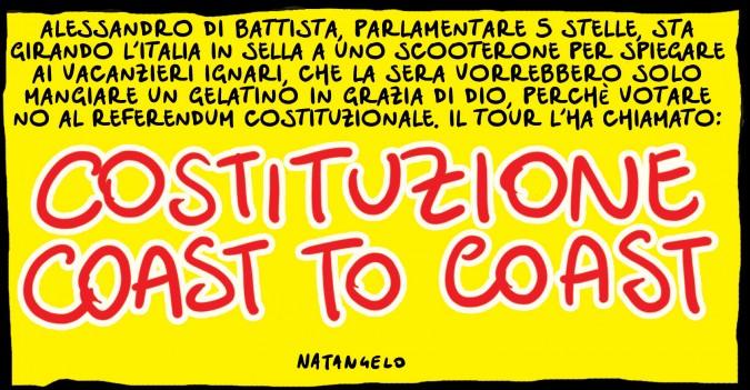 M5S, Costituzione Coast to Coast: una serata con Di Battista