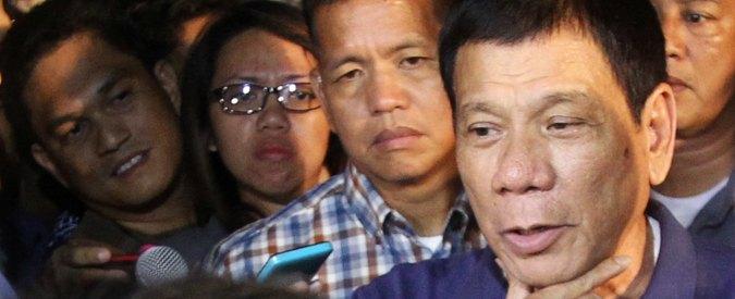 """Filippine, Duterte minaccia Obama: """"Figlio di p…, non interferire o te la farò pagare"""""""