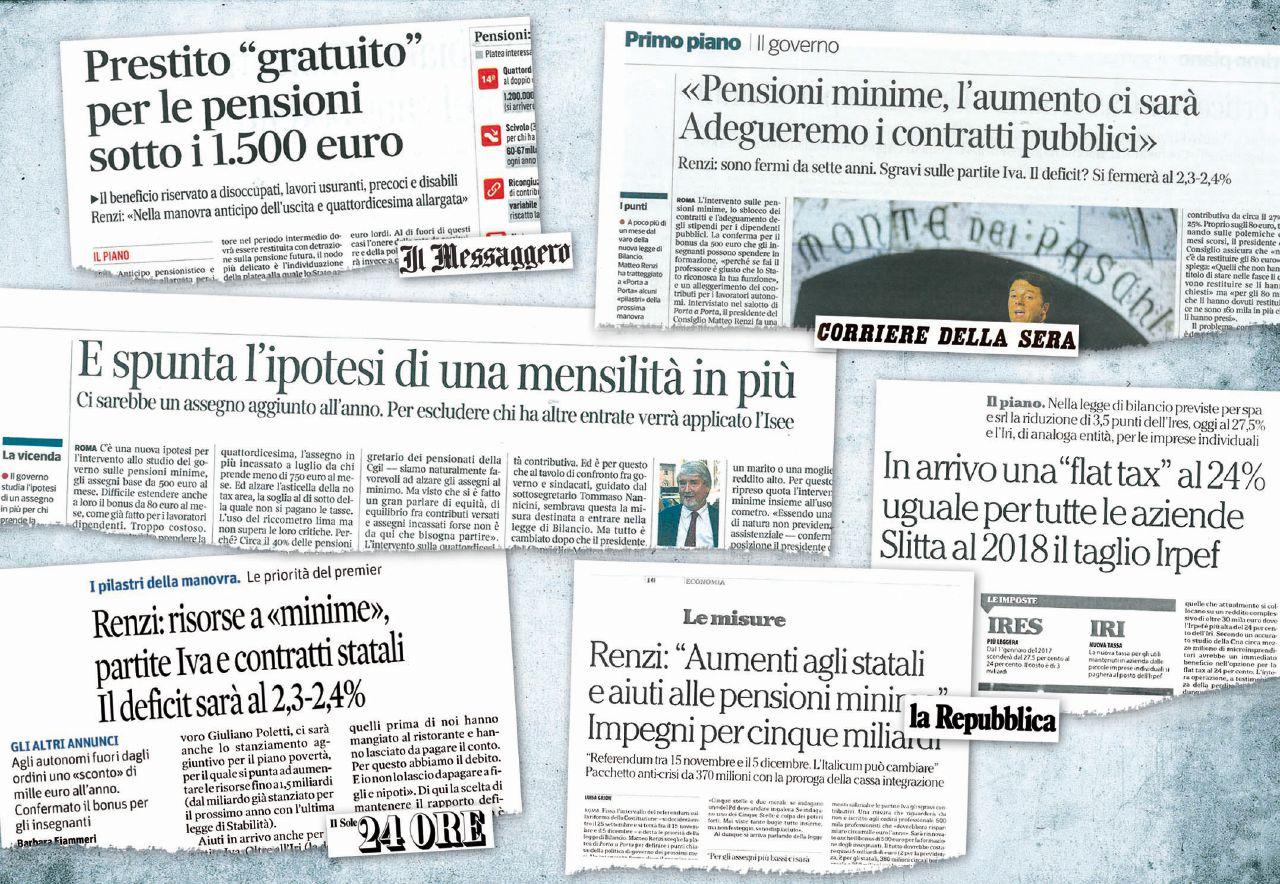 Pensionati, statali e imprese: Renzi promette di tutto per il Sì