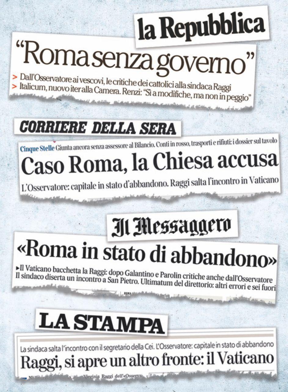 Vaticano contro la Raggi: breve storia d'un massacro inventato