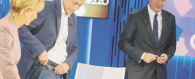 """Renzi contro Travaglio a """"Otto e mezzo"""". Omissioni, bugie, errori: ecco il premier alla prova del fact checking"""