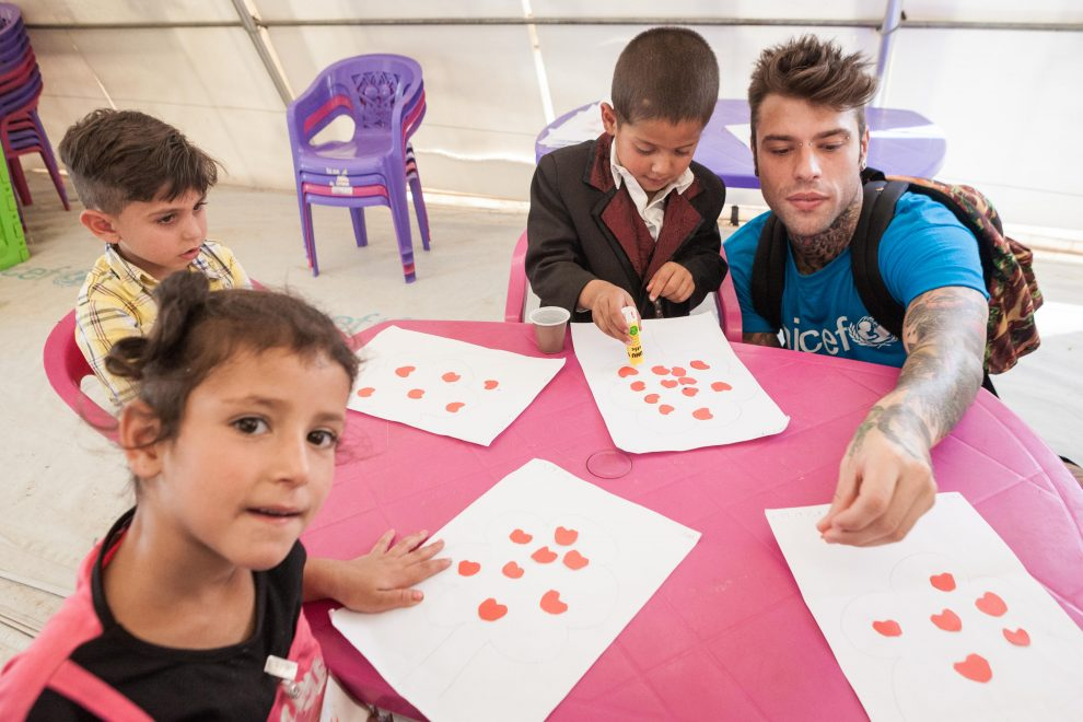 Fedez in Libano con Unicef