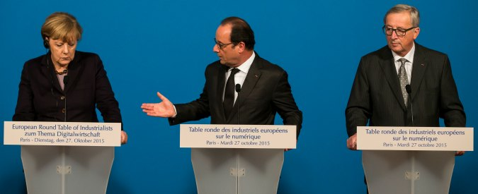 Ue, vertice mercoledì a Berlino Juncker-Merkel-Hollande: Renzi non è invitato