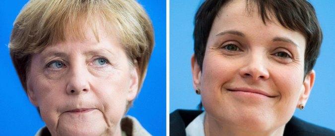 """Elezioni Germania, Merkel crolla nel suo Land: boom dei populisti xenofobi di Afd. """"Colpa della sua politica sugli immigrati"""""""