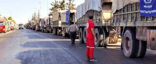 Siria, raid su convoglio Onu: 'Sospesa consegna di aiuti'. Ban Ki-moon attacca Assad. Amnesty Italia: 'Crimine di guerra'