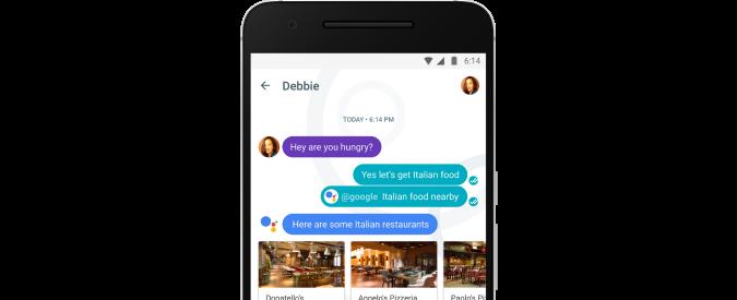 Google, ecco Allo la nuova app di messaggistica per Android e IOS