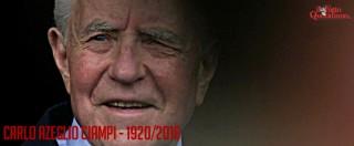 Carlo Azeglio Ciampi morto a 95 anni. Dalla Banca d'Italia al Quirinale: fece riscoprire l'orgoglio per l'inno e il Tricolore