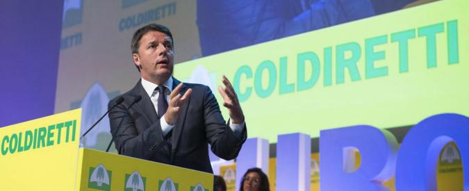 """Irpef agricola, Renzi promette sgravi agli agricoltori: """"Dal 2017 la cancelliamo"""""""