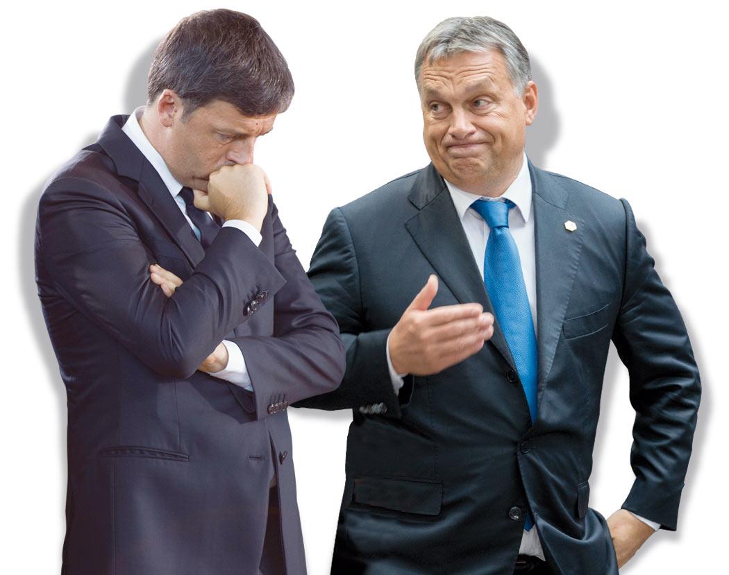 In Edicola sul Fatto Quotidiano del 18 settembre: Renzi rimane solo con Orbán: o nuove tasse o guerra alla Ue