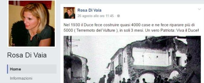 """Terremoto, a Milano consigliera FI inneggia a Mussolini su Facebook: """"Vero patriota: viva il Duce"""". Pd: """"Dimissioni"""""""