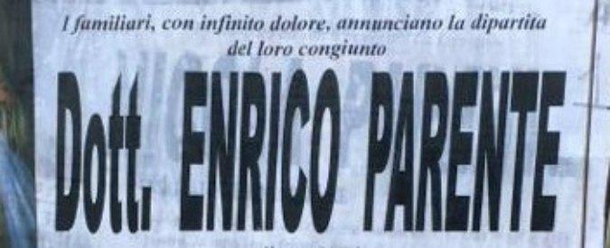 """Caserta, il necrologio dell'ex sindaco imputato: """"Ai funerali sgraditi i politici"""""""
