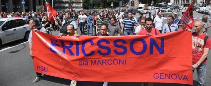 Genova, Ericsson e Piaggio Aerospace lasciano a casa 240 lavoratori. E gli svedesi hanno anche preso fondi pubblici