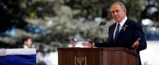 """Shimon Peres, a Gerusalemme l'ultimo saluto. Stretta di mano Netanyahu-Abu Mazen. Obama: """"Ha forgiato il Paese"""" (FOTO – VIDEO)"""