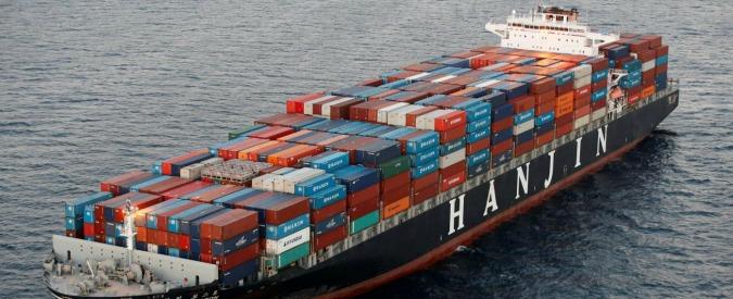 """Trasporto container, il crac di Hanjin Shipping svela la fragilità del settore. """"È come il fallimento Lehman Brothers"""""""