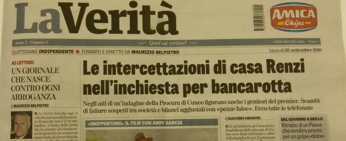 La Verità, il nuovo quotidiano 'antirenziano' di Maurizio Belpietro debutta in edicola