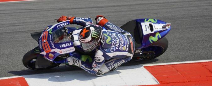 Moto Gp, pole con record della pista per Lorenzo. Rossi secondo, quarto Marquez