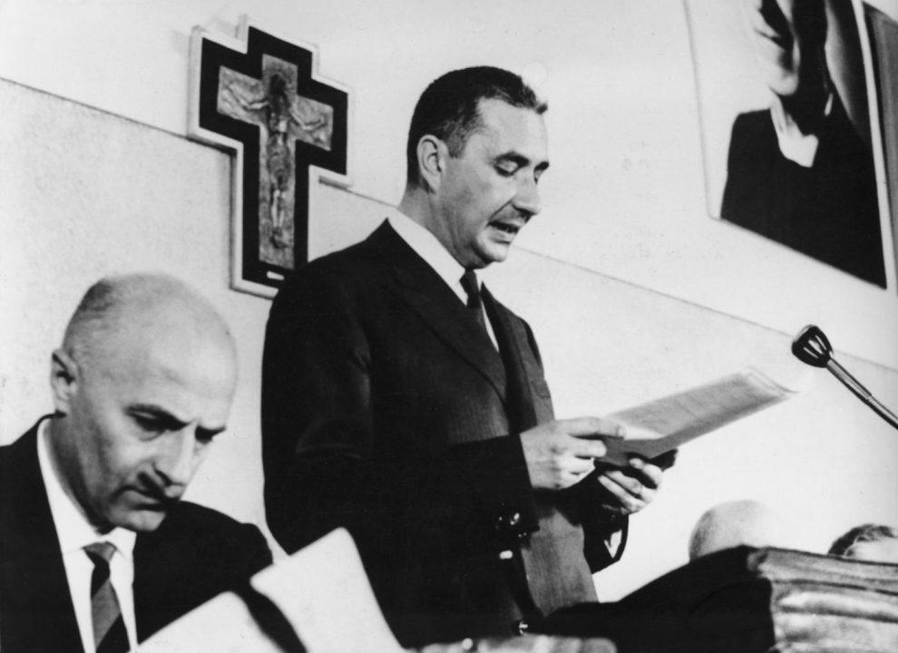 Restano famosi i lunghi discorsi tenuti da Aldo Moro nel corso dei convegni della DC
